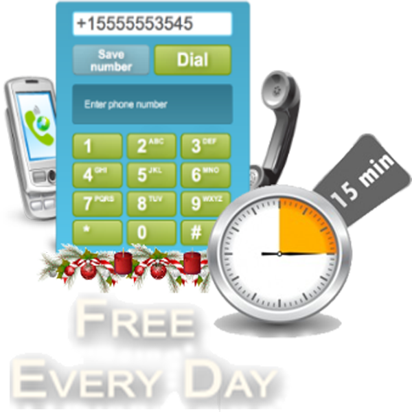 15 min Free Call Every Day - Free International Calls & Free VoIP